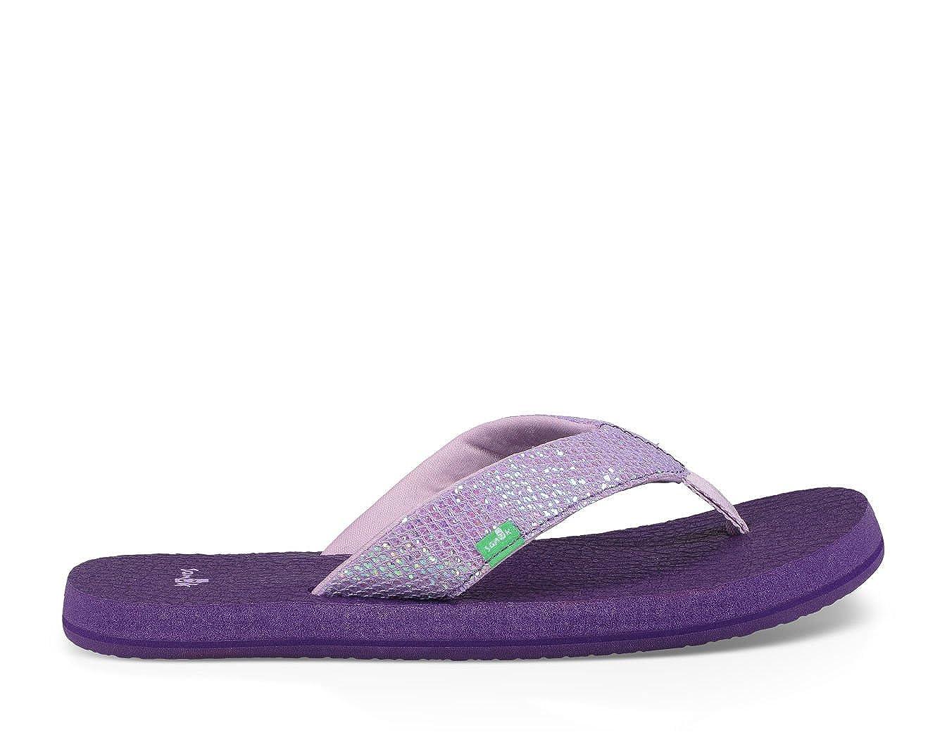 Sanuk Youth Yoga Glitter Sandal /& Cooling Towel Bundle