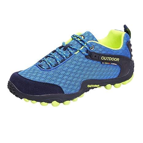 Zapatos De Senderismo Para Mujer,ZARLLE Zapatillas De Escalada Calzado De Ante Para Alpinismo,