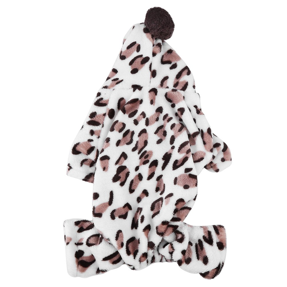 M Pet Flannel Clothing, Fashionable Small Dog Clothes Soft Warm Puppy Costume Coat(M)