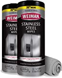 Weiman Stainless Steel Cleaner and Polish Wipes Bundle with Microfiber Cloth-Removes Fingerprints, Water Marks and…