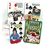 Flickback 1957 Trivia Playing Cards: 60th Birthday or Anniversary