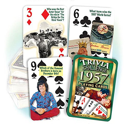 Trivia Card Set - Flickback 1957 Trivia Playing Cards: Great Birthday or Anniversary