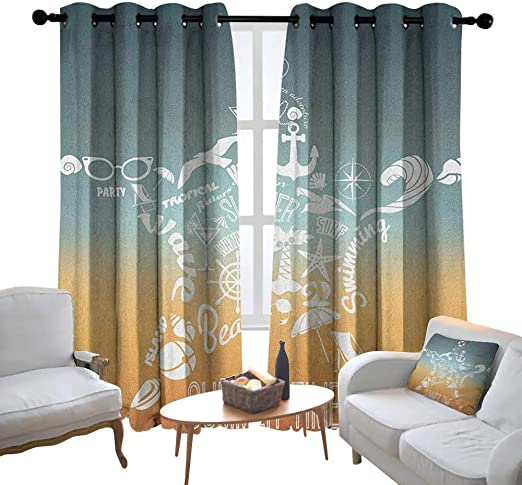 Amazon.com: Cortinas decorativas Lewis Coleridge de Starfish ...
