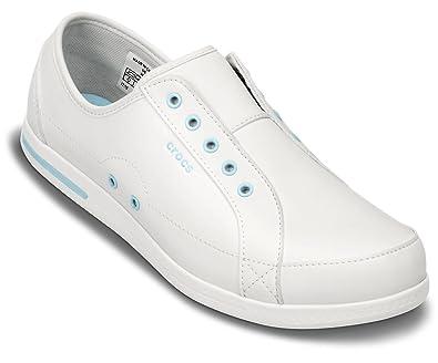 Crocs - Zapatillas para Mujer White/Ice Blue 2 (Reino Unido)