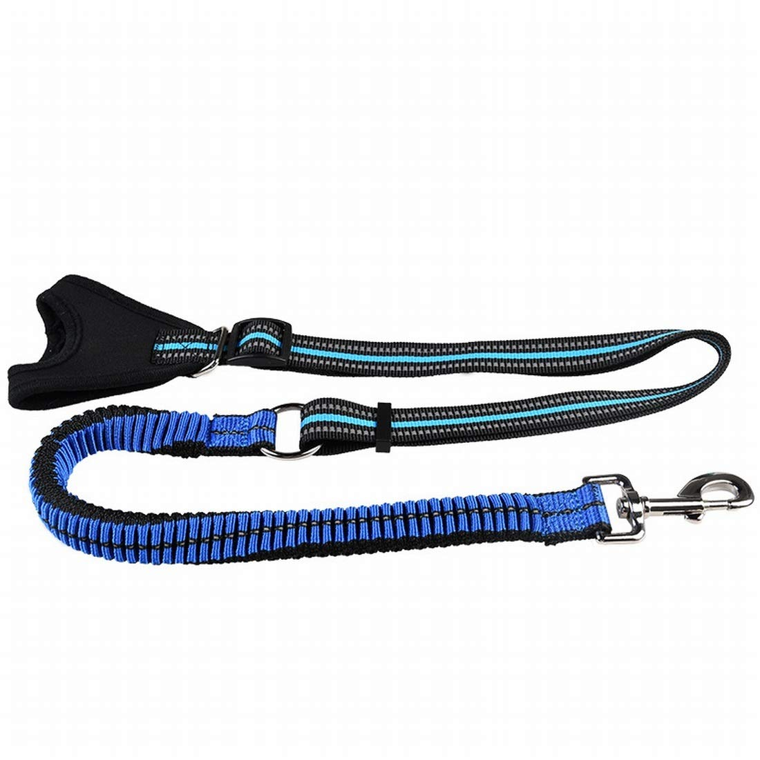 bluee Large bluee Large XIAMEND Pet Dog Hand-held Explosion-Proof Traction Rope, Reflective Anti-Collision Traction Rope (color   bluee, Size   L)