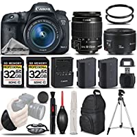 Canon EOS 7D Mark II Digital SLR Camera + Canon 50mm 1.8 II Lens + Canon EF-S 18-55mm IS STM Lens + Backup Battery + 2 Of 32GB Memory Card. All Original Accessories Included - International Version