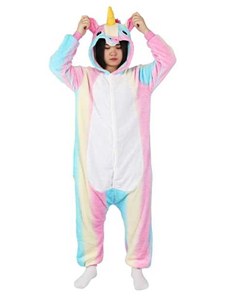 adult onesie unicorn for women men pajamas animal cosplay halloween costume cute sleepwear s for