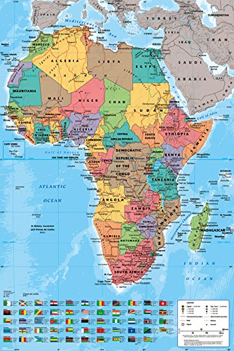 GB eye GN0747 Africa Map, Political, Maxi Poster: Amazon.ca: Home