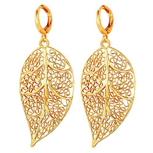 U7 Jewelry Filigree Earrings Lightweight