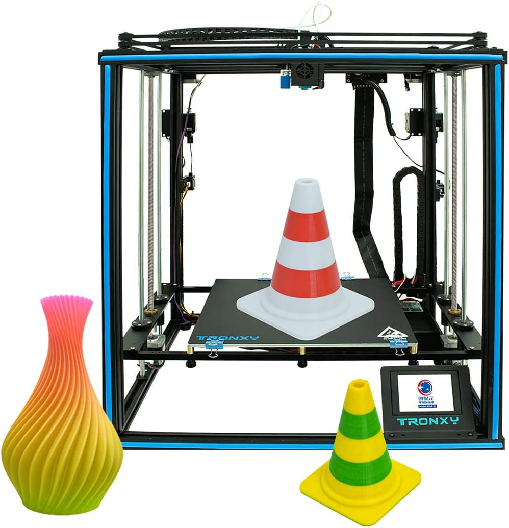 Aibecy Tronxy X5SA-2E 3D Printer Ultra-Quiet Mainboard 330*330*400mm with 3.5 Inch Color Touchscreen 8GB TF Card 10m Filament Support Dual Color…