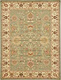Unique Loom Voyage Collection Traditional Oriental Classic Light Green Area Rug (9′ x 12′) For Sale