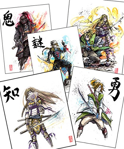 5-Piece Set Samurai Zelda ute parody