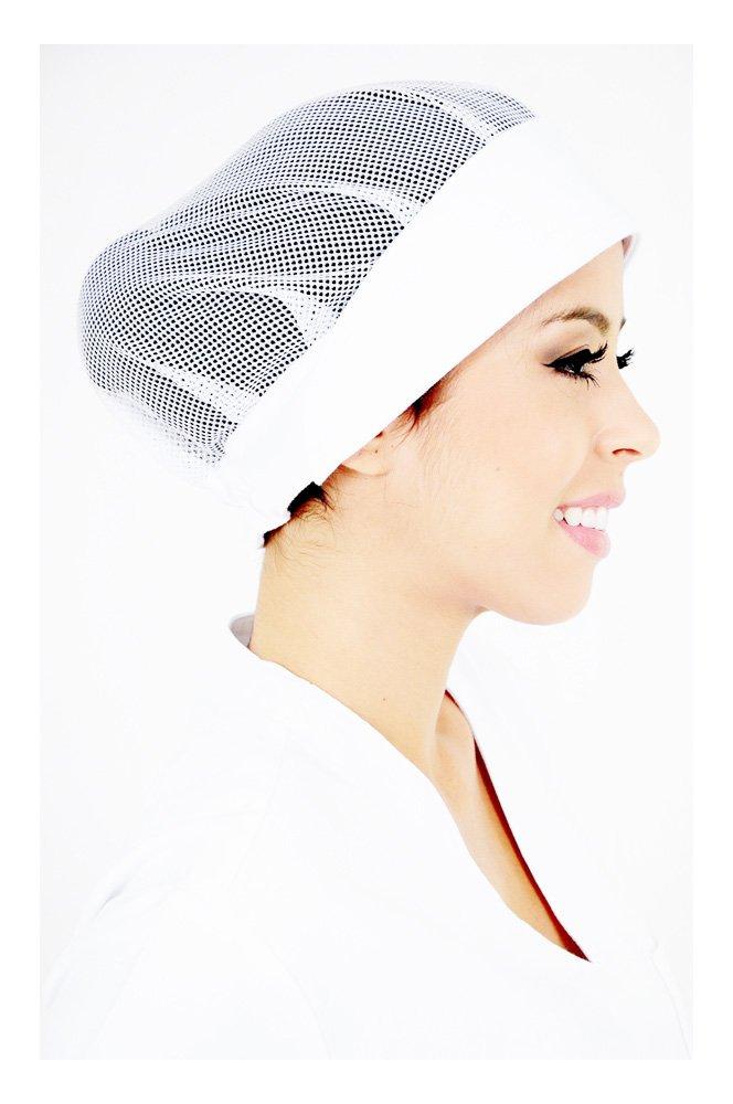 DAM Uniforms White Women's Chef Head Wrap - One Size by DAM Uniforms