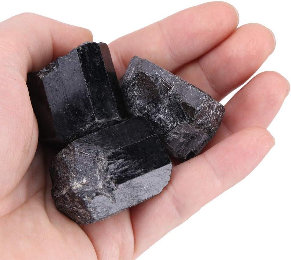 Cristal de turmalina crudo negro, piedra curativa mineral, 100 g