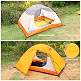 OUTAD Portable Camping Tent 3 Person Lightweight Folding Camping Tent with Seat and Carry Bag
