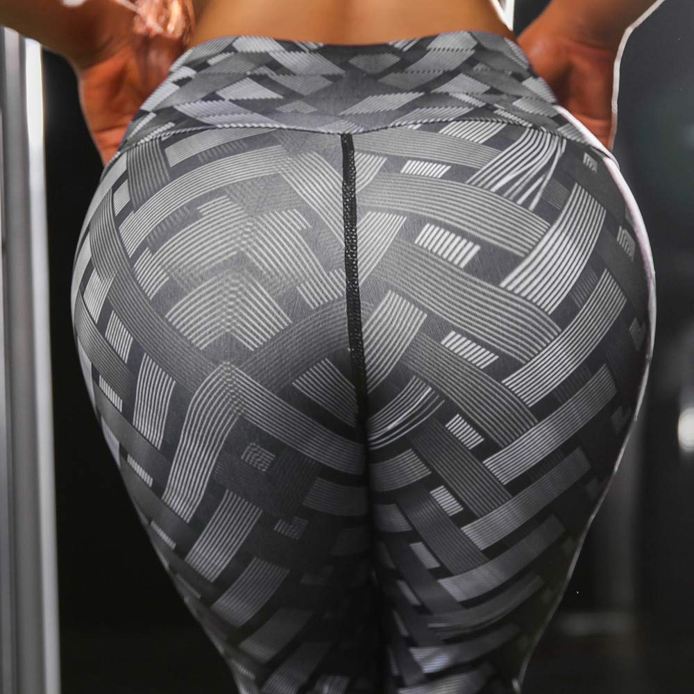 iLUGU Womens Hight Waist Sports Pants Yoga Yoga Shanto Print Leggings Running Stretch Work Out Khaki for Trouser