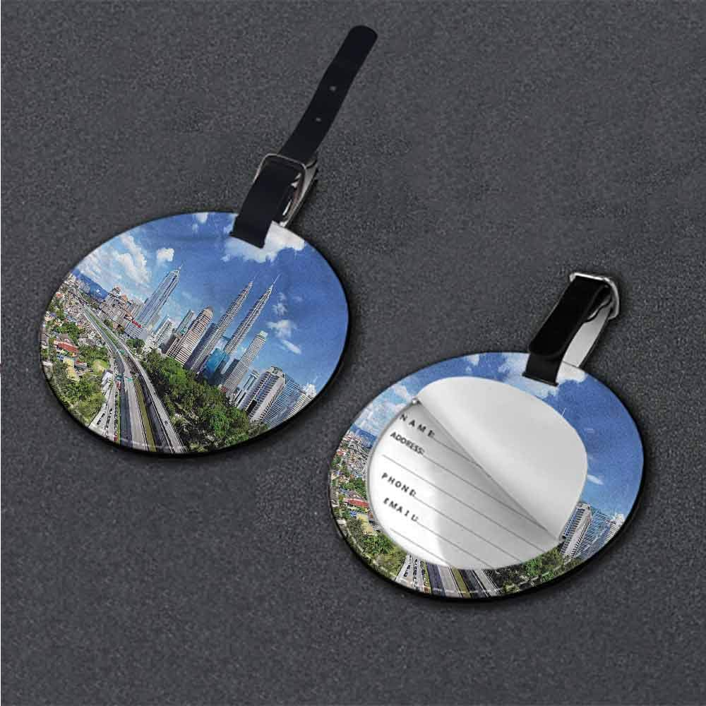 Boarding Tags City,Morning Australia River Round Leather Luggage