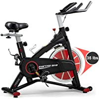 Syrinx Indoor Cycling Bike-Belt Drive Indoor Exercise Bike (Black)