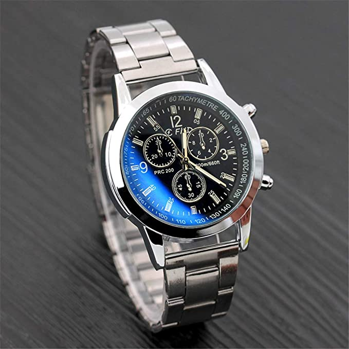 Amazon.com: Men Watches,WoCoo Relojes de Hombre Blue-Ray Quartz Full Military Casual Waterproof Wrist Watches Gift for Valentines(White): Kitchen & Dining