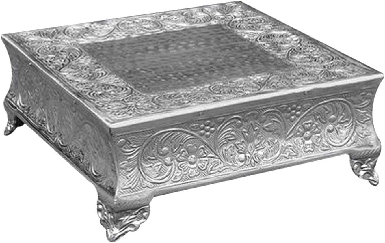 """Silver Strongly Built For Heavy Cake GiftBay Wedding Cake Stand Square 14/"""""""