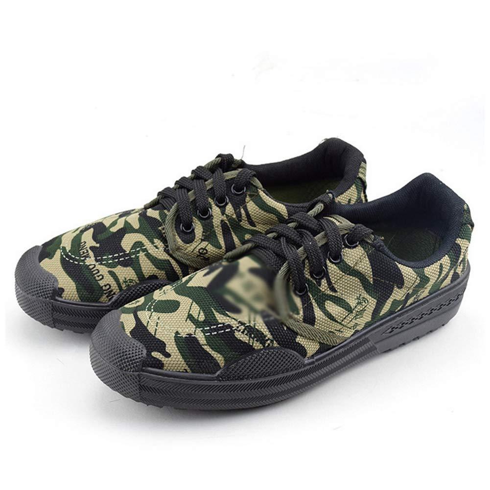 - QIAO Chaussures de libération de l'assurance du Travail pour Hommes et Femmes, Chaussures d'entraînement pour l'entraînement en Plein air Militaire, vêtements antidérapants Absorption des Chocs,B,45
