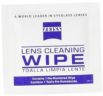 50 ct - Zeiss Paños de limpieza para lentes prehumectados para cámaras, microscopios, gafas: Amazon.es: Oficina y papelería