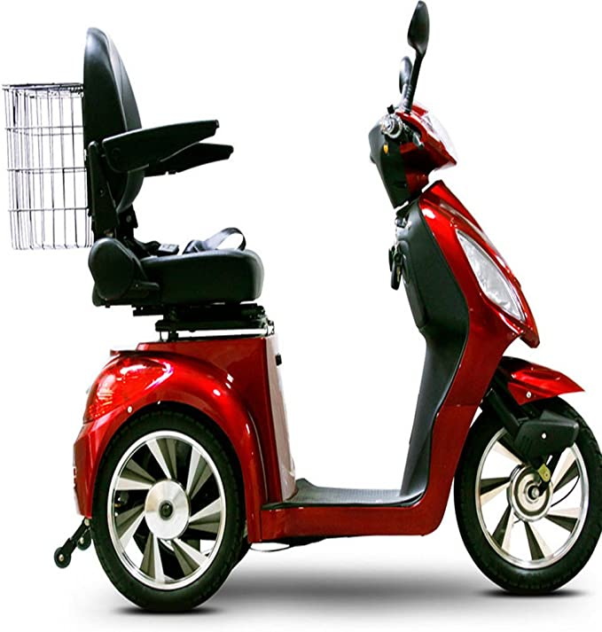 Amazon.com: EW 36 Scooter de Movilidad. Rojo. Hasta 18 mph y ...