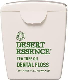 product image for Desert Essence Tea Tree Oil Floss, 50 Yards, Pack of 6