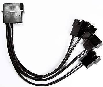 Cabo adaptador molex fonte p/ 4 Fan cooler 3 ou 4 Pinos