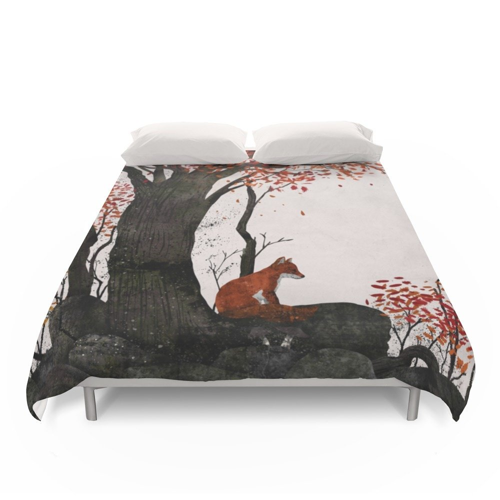 "Society6 Fantastic Mr. Fox Doesn't Feel So Fantastic Anymore Duvet Covers Queen: 88"" x 88"""