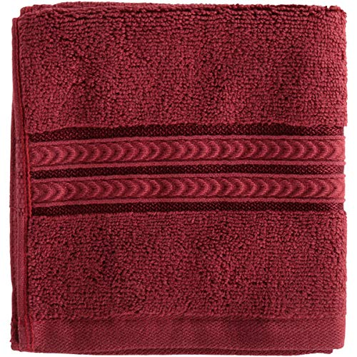 Better Homes and Gardens Thick and Plush Solid Bath Collection, Washcloth Rose Wine from Better Homes & Gardens