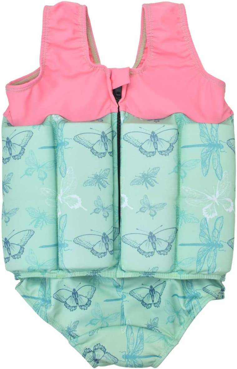 Splash About Kids Floatsuit with Adjustable Buoyancy 1-2 Years Apple Daisy with Zip