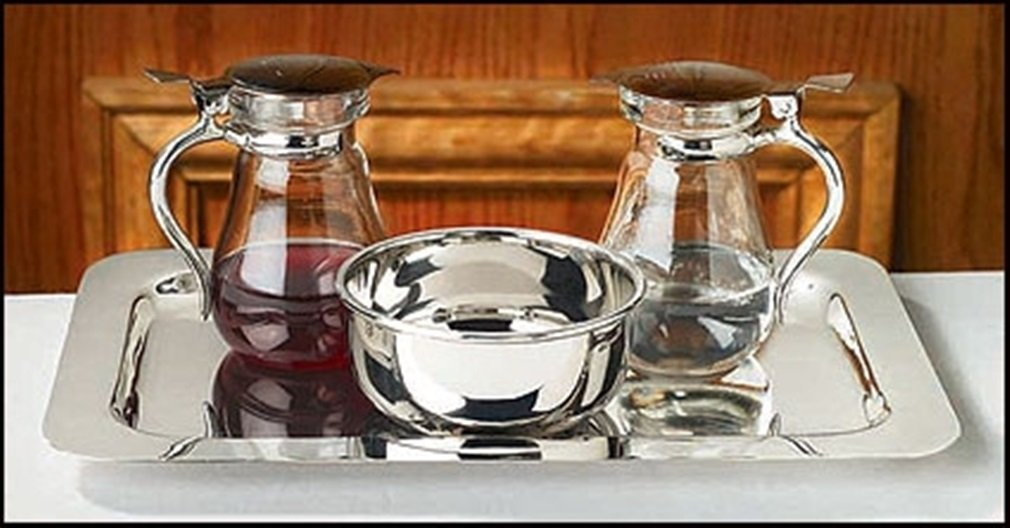 Stratford Chapel Glass Cruet Set with Bowl and Tray, 4 Inch by Stratford Chapel