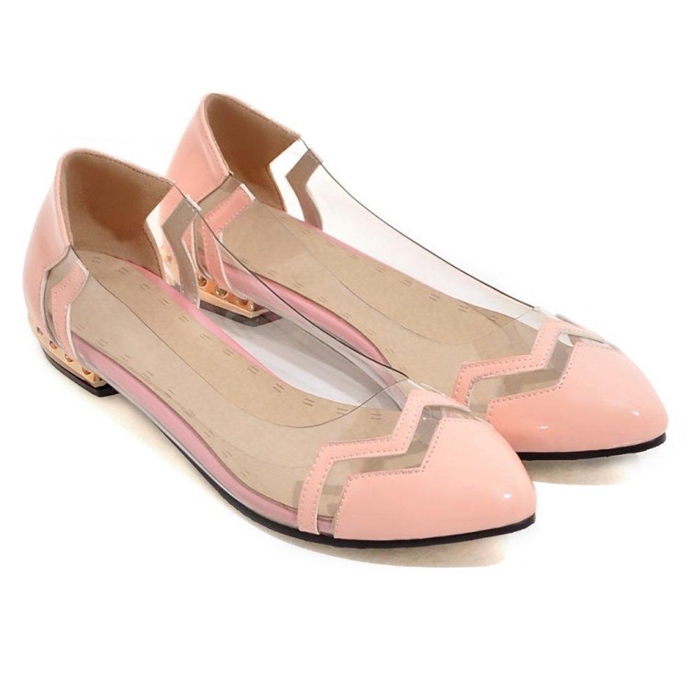 ZJM- Fashion Summer Flat Soft Clear Sandal Thin Shoes Soft Flat Clear Vamp Leisure Mocassini Impiegato (Colore : Rosa, dimensioni : 35) 35|Rosa aacbba