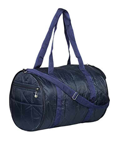 3725f6fb134a SuiDhaga Round Folding PU 29x39x28 cm Blue Travelling Bag  Amazon.in  Bags