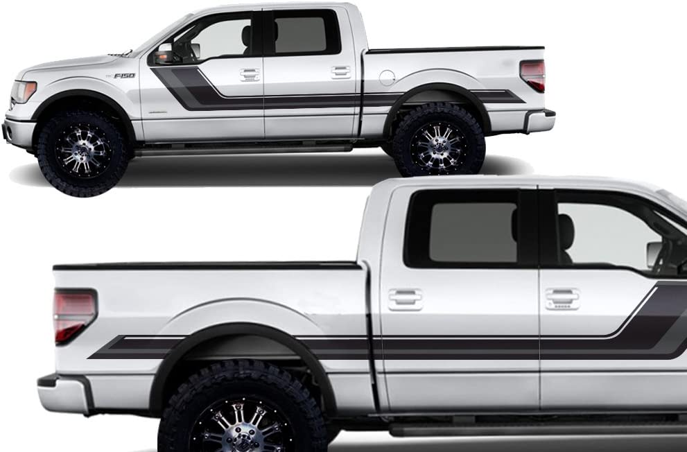 FORD F150 BLACKOUT HOOD VINYL DECAL GRAPHIC FITS 2009-2014 MATTE BLACK
