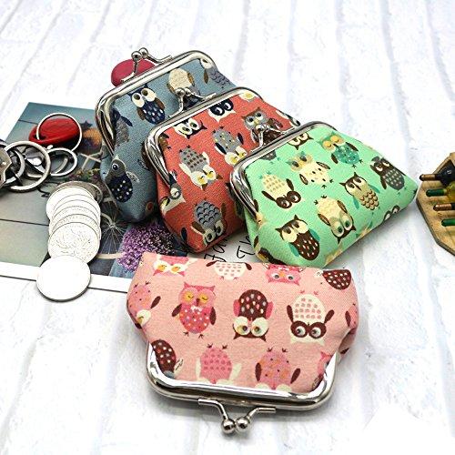 Pochette Porte Changement Monnaie Petit de Femmes Portefeuille Monnaie YUYOUG Monnaie Hibou Porte Porte Femmes Pink Porte Portefeuille Cartes 0R8wxI6qw