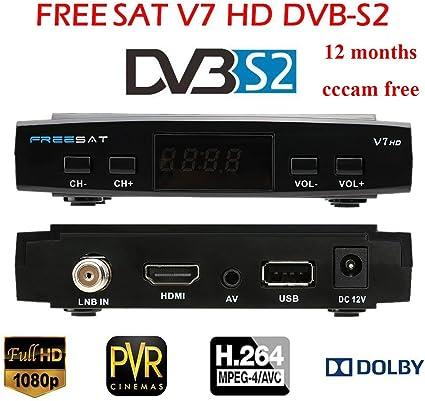FREE SAT V7 HD DVB-S2 Receptor with 12 months cccam free de TV ...