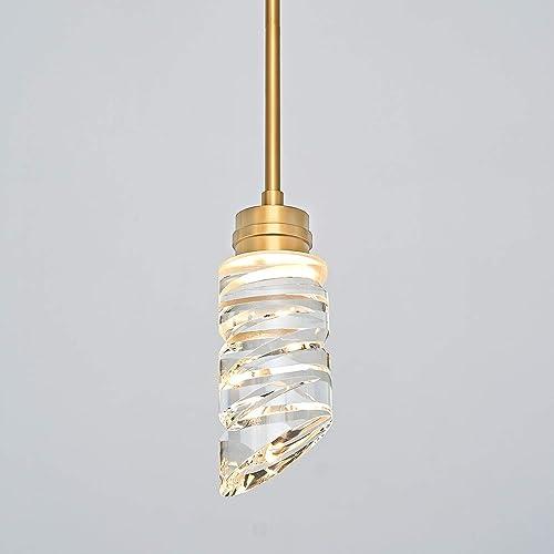 MOTINI 1-Light Cylinder Crystal Pendant Light
