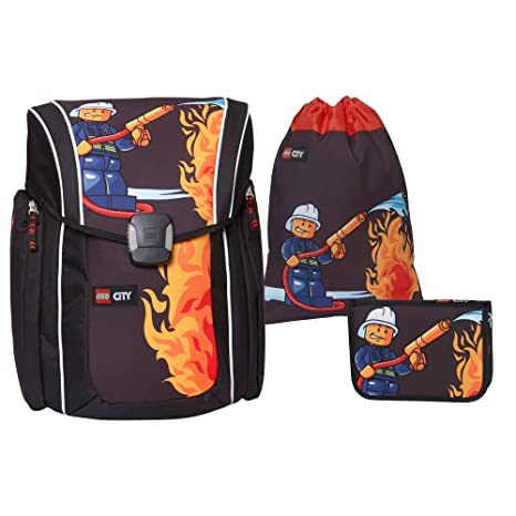 Lego City Fire Extreme juego de mochilas escolares