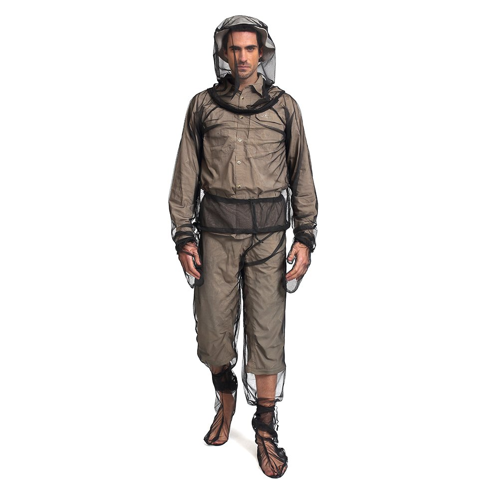 Viaggio Blesiya Allaperto allaperto Rete Insetto//Mosquito Netto Giacca Pantaloni Guanti Scarpe-Set Completo Ideale per Il Campeggio Pesca Trekking