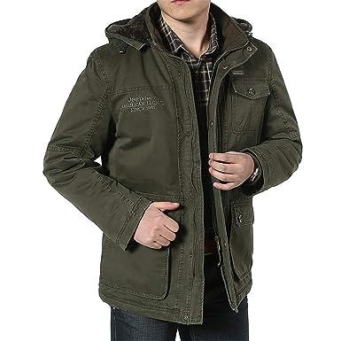 8xl 7xl Winterjacke Kaschmir Size Plus Herren Baumwolle fygIbY76v