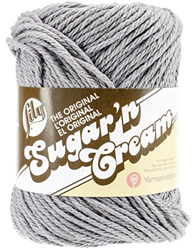 Lily Sugar 'N Cream Yarn, 2.5 Ounce, Overcast, Single Ball (Sugar N Yarn)