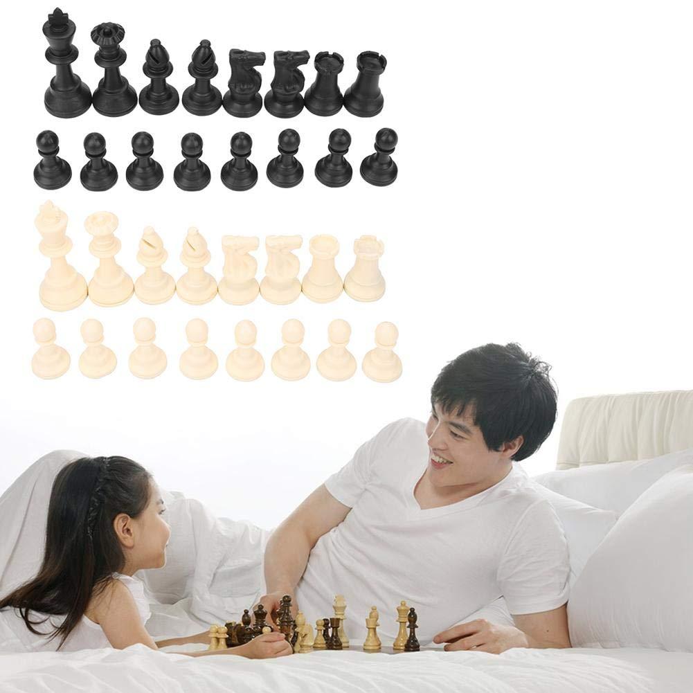 Zerodis 32 Pi/èces D/échecs Standard International Jeu D/échecs Pi/èces Remplacement de Jeu D/échecs Jeu De Plateau Jeux De Strat/égie Jouets Cadeau pour Enfants