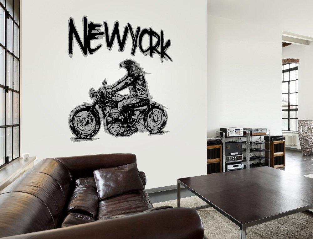 ... cabeza de águila America para pegar neoyorquino paisaje urbano salones motociclista autopista alcobas Estados Unidos es vestíbulo bordadoras: Amazon.es: ...
