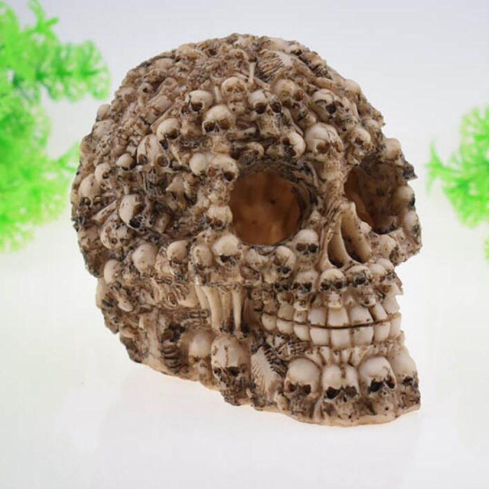 13.51012cm LDFN Fish Tank Landscaping Resin Artificial Accessories Multisize Skull A Pack Of 1,13.5  10  12cm