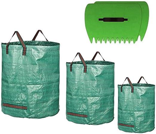 Anyasen 3 Piezas Sacos de jardín Bolsas de residuos de jardín Grandes Plegables de Basura de