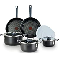 10-Pc T-Fal Stackables Titanium Non-Stick Cookware Set