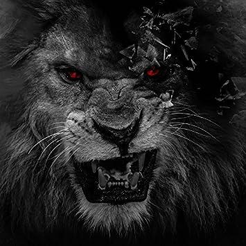 Wapel Living Room Bedroom Animal Lion Black White Wallpaper