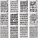 kestar 12パック文字と番号ステンシルアルファベットステンシル、図面ペイントステンシルスケールテンプレートセットのスクラップブック、カード、クラフトプロジェクト